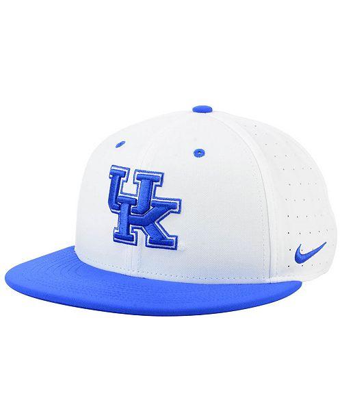 best website 87a32 fbc75 Nike Kentucky Wildcats Aerobill True Fitted Baseball Cap ...