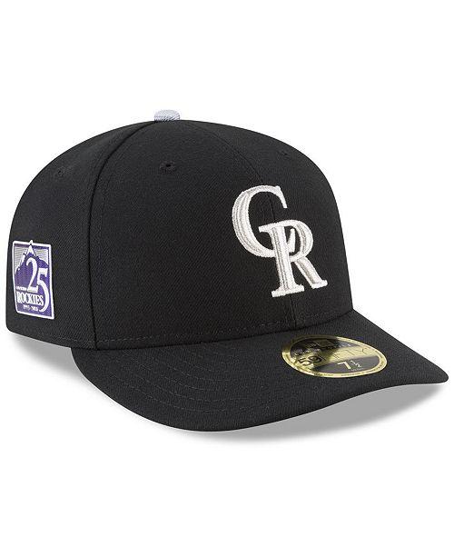 huge discount de352 94307 ... New Era Colorado Rockies Authentic Collection 25th Anniversary Low  Profile 59FIFTY Cap ...