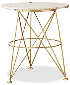 Table with Sand Colored Marble Top