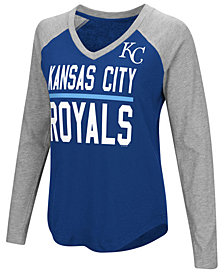 G-III Sports Women's Kansas City Royals Power Hitter Raglan T-Shirt