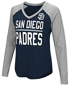 G-III Sports Women's San Diego Padres Power Hitter Raglan T-Shirt