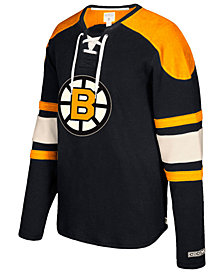 CCM Men's Boston Bruins Laces Crew Shirt