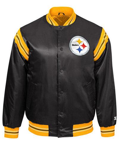 Starter Men's Pittsburgh Steelers The Enforcer Satin Jacket