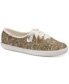 Glitter Lace-Up Sneakers