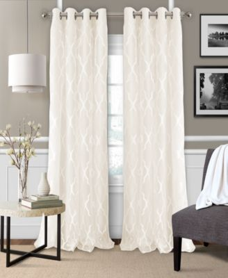"Bethany 52"" x 84"" Sheer Overlay Blackout Grommet Curtain Panel"