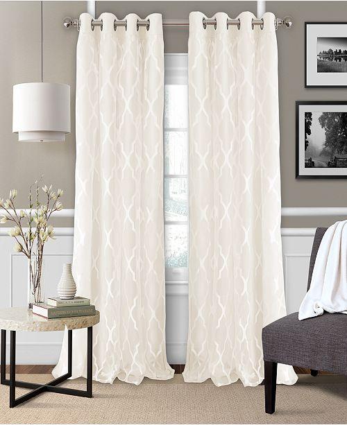 """Elrene Bethany 52"""" x 84"""" Sheer Overlay Blackout Grommet Curtain Panel"""