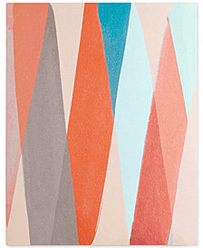 Intelligent Design Thatta Way Orange Pastel Dimensional Box Wall Art