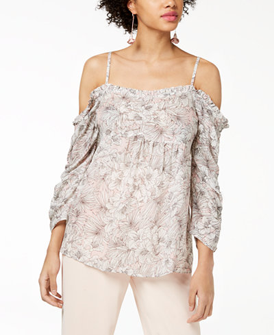 WILLIAM RAST Cotton Printed Off-The-Shoulder Top