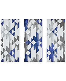 INK+IVY Navy Sierra 3-Pc. Gel-Coated Canvas Print Set