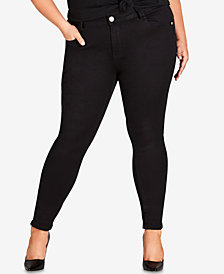 City Chic Trendy Plus Size Skinny Ankle Jeans
