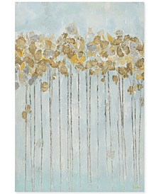 Madison Park Minted Forest Gel-Coated Canvas Print with Gold-Tone Foiling