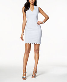 French Connection Scalloped Sheath Dress