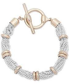 Two-Tone Multi-Row Toggle Bracelet
