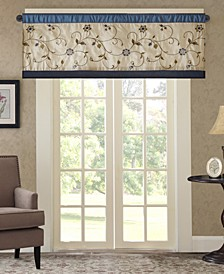 """CLOSEOUT! Serene 50"""" x 18"""" Colorblock Embroidered Valance"""