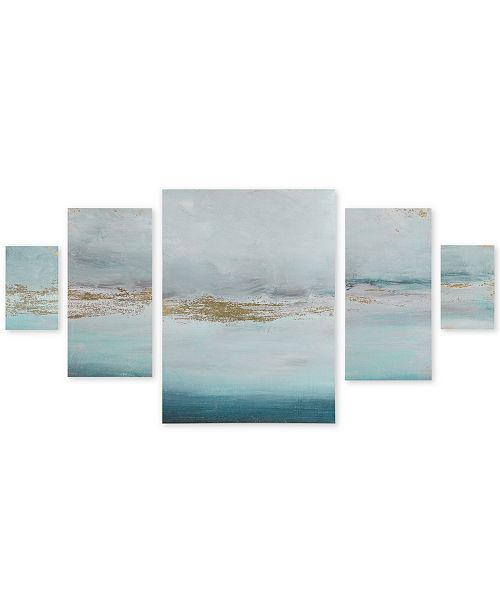 JLA Home Madison Park Glistening Gold Marble 5-Pc. Gel-Coated Canvas Print Set with Gold-Tone Foil
