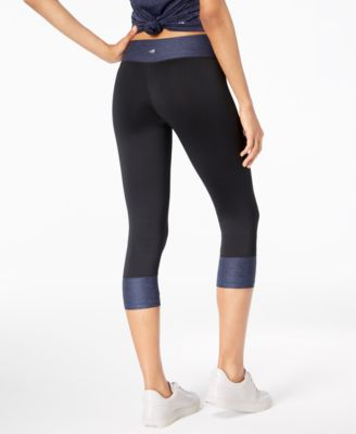 db3d5d78caeab2 Finders | Rapidry Colorblocked Capri Leggings, Created for Macy's