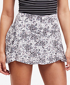 Free People Alternative Grunge Printed Skort