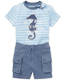 Polo Ralph Lauren Cotton T-Shirt & Shorts Set, Baby Boys