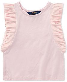 Polo Ralph Lauren Flutter-Sleeve Top, Little Girls