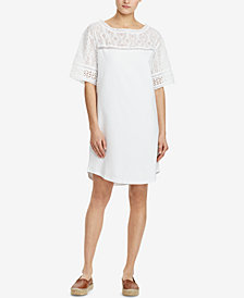 Lauren Ralph Lauren Petite Cotton Shift Dress
