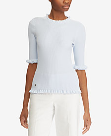 Lauren Ralph Lauren Elbow-Sleeve Sweater
