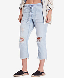 Free People Northern Sky Ripped Pull-On Jeans