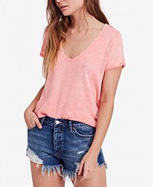 Free People Saturday Crochet-Trim T-Shirt