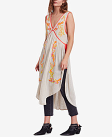 Free People Summer Lovin' Sleeveless Embroidered Tunic