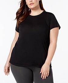 Plus Size Heathered Pleated-Back T-Shirt