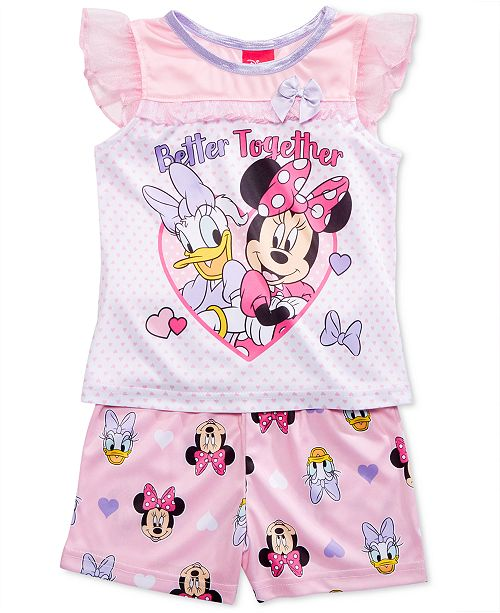 Minnie Mouse Disney's® & Daisy Duck 2-Pc. Better Together Pajama Set, Toddler Girls