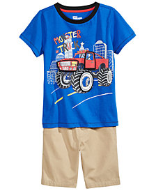 Epic Threads Graphic-Print T-Shirt & Shorts Separates, Toddler Boys, Created for Macy's