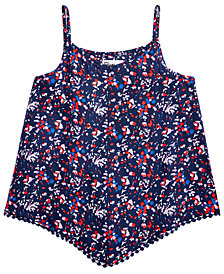 Epic Threads Printed Pom Pom-Trim Tank Top, Big Girls, Created for Macy's