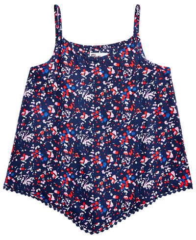 Epic Threads Printed Pom Pom-Trim Tank Top, Big Girls, Created for Macy's
