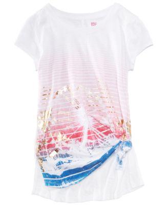 Graphic-Print T-Shirt, Big Girls, Created for Macy's