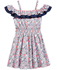 Epic Threads Butterfly-Print Ruffle Dress, Big Girls, Created for Macy's