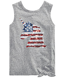 Epic Threads Big Girls Sequin Side-Tie Tank Top, Created for Macy's