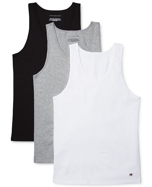 ca42aa07791f9 Tommy Hilfiger Men s 3-Pk. Cotton Tank Tops   Reviews - Underwear ...