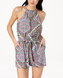 Be Bop Juniors' Printed Drawstring Romper