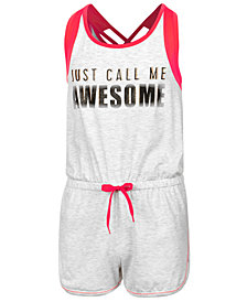 Ideology Mesh-Trim Romper, Big Girls, Created for Macy's