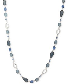 """Multi-Stone & Crystal 42"""" Statement Necklace"""