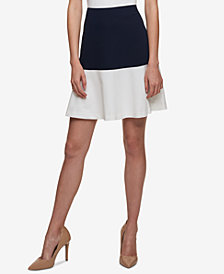 Tommy Hilfiger Colorblocked Swing Skirt