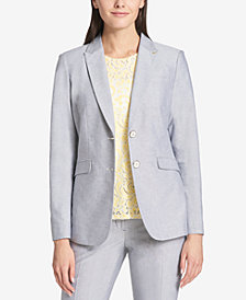 Tommy Hilfiger Two-Button Oxford Blazer