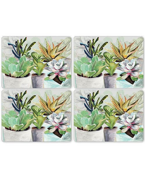 Pimpernel Succulents Set of 4 Placemats