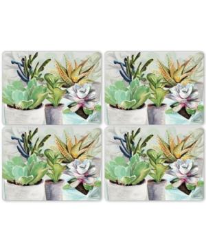 Pimpernel Succulents Set of 4 Placemats