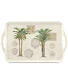 Pimpernel Vintage Palm Study Large Melamine Handled Tray