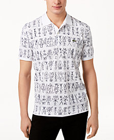 Lacoste Men's Piqué Graphic-Print Polo
