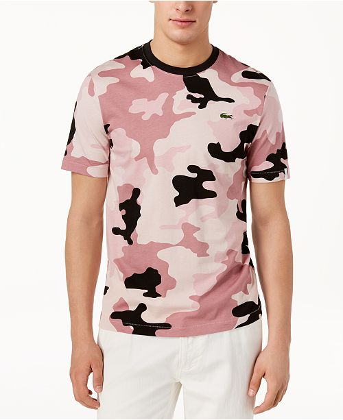 fce716c7cb7a2 Lacoste Men's LIVE Camo-Print T-Shirt & Reviews - T-Shirts - Men ...