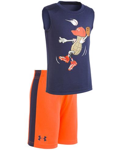 Under Armour 2-Pc. Graphic-Print T-Shirt & Shorts Set, Little Boys