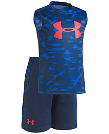 Under Armour 2-Pc. Printed T-Shirt & Shorts Set, Little Boys