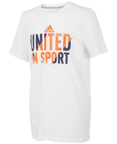 adidas United-Print Cotton T-Shirt, Little Boys